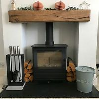 「oak beam over white fire surround」の画像検索結果 Oak Beam Fireplace, Wooden Fireplace Surround, Oak Mantle, Wooden Mantle, Stove Fireplace, Fireplace Surrounds, Fireplace Ideas, Floating Fireplace, Wooden Beam
