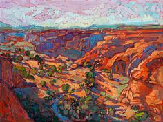 Arizona Shadow - Contemporary Impressionism | Landscape Oil Paintings for Sale by Erin Hanson