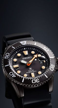 """The Seiko Prospex """"Black Series"""" is inspired  by  the world of night diving, with the functions which meet Seiko's stringent standards for diver's watches."""