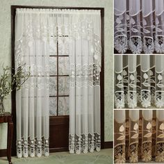 Seville Embroidered Sheer Curtains..like these