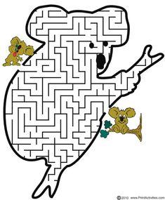 Koala Maze: Help the koala thru the maze to find its friend.