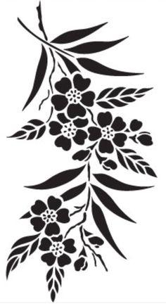 Cricut Stencils, Stencil Templates, Stencil Patterns, Stencil Designs, Black And White Flowers, Black And White Painting, Rose Stencil, Stencil Printing, Wood Burning Patterns
