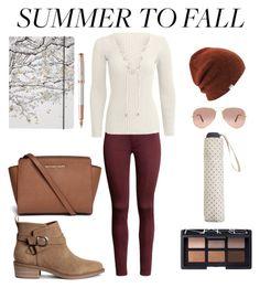 """Summer to fall - Holidays to school"" by roberta-labaj on Polyvore featuring moda, Coal, NARS Cosmetics, Michael Kors, Ray-Ban, MANGO, Go Stationery e Parker"