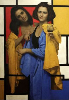 """""""Out Of The Square"""" -- by Cesar Santos (1982) Interesting to see Mondrian softened."""