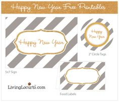 Happy New Year Free Party Printables