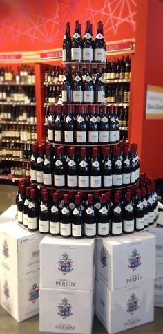 Famille #Perrin wine display - #WholeFoods, Palm Desert CA