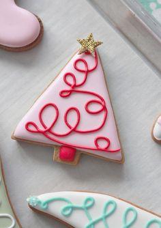 Whimsical Christmas Tree Cookie