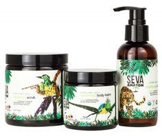 SEVA Balanced Guru good for you skin and the rainforest. Certified organic - and profits go to saving Ecuador's rainforest. Cacao Benefits, Body Scrub, Body Care, Scrubs, The Balm, Health And Beauty, Skin Care, Charity, Packaging