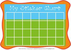 Graphics From the Pond: My Sticker Chart FREE