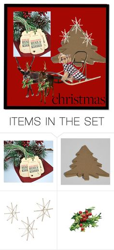 """""""Country Christmas"""" by cindyanne-mroz-hernandez ❤ liked on Polyvore featuring art, rustic, country and etsyfru"""