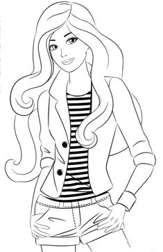 Barbie 17 coloring page Barbie Coloring Pages, Disney Princess Coloring Pages, Disney Princess Colors, Mermaid Coloring Pages, Coloring Book Art, Cute Coloring Pages, Cartoon Coloring Pages, Adult Coloring Pages, Girly Drawings