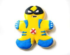 Wolverine Superhero Sugar Cookies by guiltyconfections on Etsy, $21.00