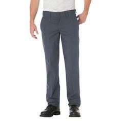 Dickies Men's Slim Straight Fit Lightweight Poplin Pant- Charcoal (Grey) 32x34