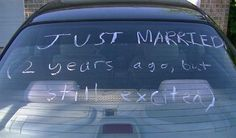 Just married. This is really cute!