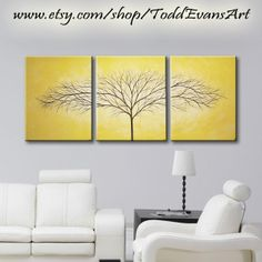 ON SALE TODAY 48 inches 3 piece Wall art set by ToddEvansArt, $100.00