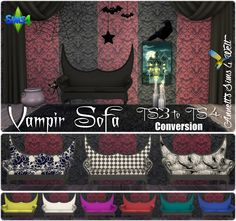 Annett's Sims 4 Welt: TS3 to TS4 Conversion - Vampir Sofa