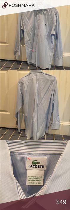 Lacoste Men's Dress Shirt Great condition - worn less than 5 times. Lacoste Shirts Dress Shirts