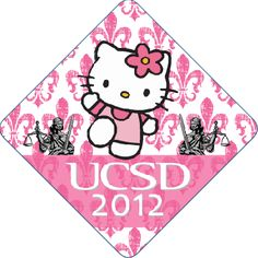 Hello Kitty Professionally Printed Graduation Cap From tasseltoppers.com