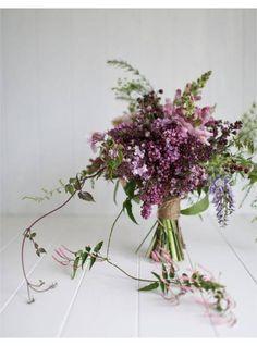 Bouquet de mariee lilas