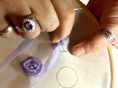 Spider Ribbon Rose Tutorial, Part 1 - jennings644 - YouTube
