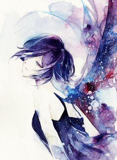 Kirishima Touka #fanart #watercolor #Aji77