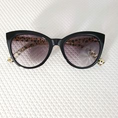 d32dcce437da3 Betsey Johnson +2.50 Cat Eye Reading Glasses Sunglasses Pinup Black Leopard   BetseyJohnson