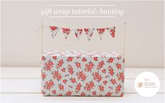 Wrapped Package with Bunting - So Fun! Full Tutorial on How-To Make.