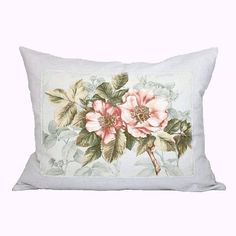 Peach Flowered Pillow Cover - Shabby Cottage Pink Peach Patchwork Pillow - Chic Decor - Drop Cloth Pillow Cover - 16x20