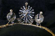 Old World Empress Tiara Pearls and Vintage by MoondustJewels85