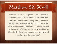 Image result for two great commandments