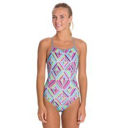 Dolfin Uglies Quinta Print Womens V-2 Back Swimsuit at SwimOutlet.com