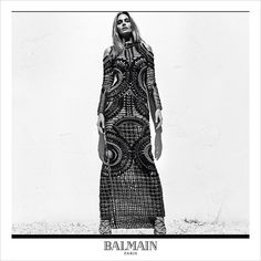 #CindyCrawford for #Balmain's Spring Summer 2016 advertisement captured by fashion photographer #StevenKlein!