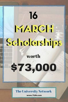 16 March Scholarships Worth $73,000 | The University Network