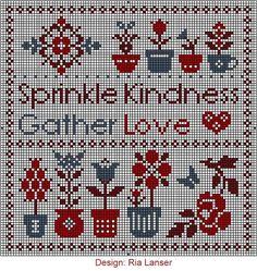 Design: Ria Lanser Sprinkle Kindness Gather Love heart flowers cross ...