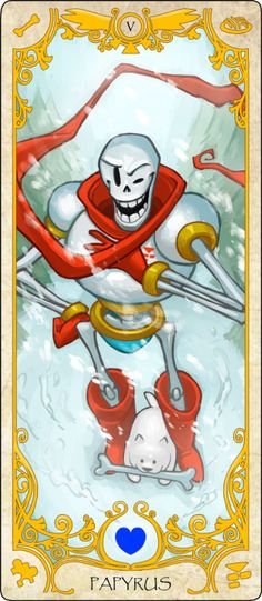 Number 2: Papyrus! Sorry about the quality, tumblr doesn't like long images - credit to dogbomber.tumblr.com