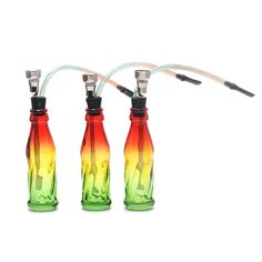 Reggae Jamaica Glass Bottle Water Pipe Smoking Pipe Tobacco Pipe.