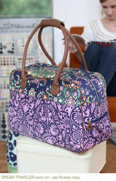 travel bag sewing pattern (máquinas)