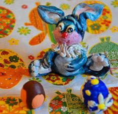 EasterBunnywithEggs/ keramiplast