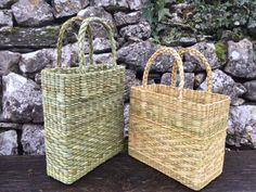 Jane was introduced to weaving in 1999 whilst living in a remote part of New Zealand where she was taught how to weave Maori flax baskets. Willow Weaving, Basket Weaving, Straw Crafts, Paper Straws, Weave, Container, Dressing, Anniversary, Handbags