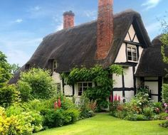 40 Beautiful Thatch Roof Cottage House Designs