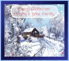 Free Animated Christmas pictures   merry christmas to you your family snow scene animated christmas card ...