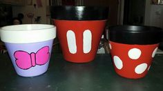 Daisy Duck - Minnie and Mickey Mouse pots
