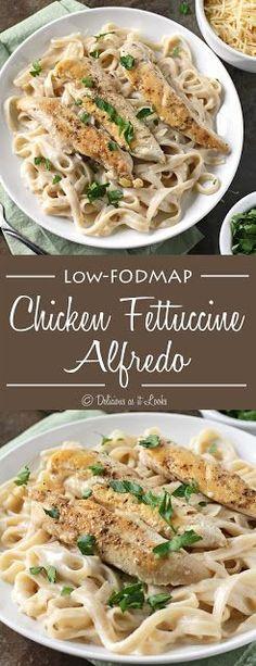 Low-FODMAP Chicken Fettuccine Alfredo / Delicious as it Looks