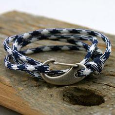 Bracelet - Mens Jewelry - Mens Bracelet - Paracord Bracelet - Clasp Bracelet - Rope Bracelet - Nautical Bracelet - Paracord - Charm Bracelet