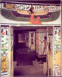 Ma'at god,An accurate scale replica of a wall painting in the tomb of nefertari Qv66 in the valley of the queens in luxor,egypt.Maat or Ma'at was the ancient Egyptian concept of truth, balance, order, law, morality, and justice represented as a young woman,sitting or standing, holding a was scepter, the symbol of power, in one hand and an ankh, the symbol of eternal life, in the other.For more stories please visit us at:www.windandwave-eg.com and contact us at:info@windandwave-eg.com
