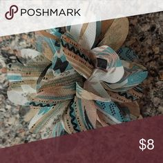 Cute print blue and brown floral hair clip or pin Cute print blue and brown floral hair clip or pin Accessories Hair Accessories