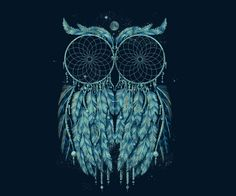 Owl out of dream catchers
