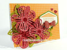 Rose Blossom Legacies: Birthday Cheer with Enchantment Paper Fundamentals and Cricut Artistry
