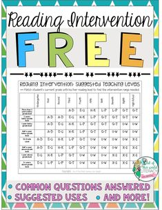 Try Reading Interventions for Free! - Out of this World Literacy