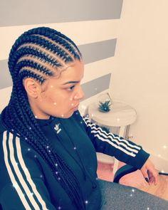 56 Trendy Ideas Braids Hairstyles Updo Feed In Braided Ponytail Hairstyles, African Braids Hairstyles, My Hairstyle, Cornrows Hair, Black Girl Braids, Braids For Black Hair, Girls Braids, African American Kids Hairstyles, Twist Braids